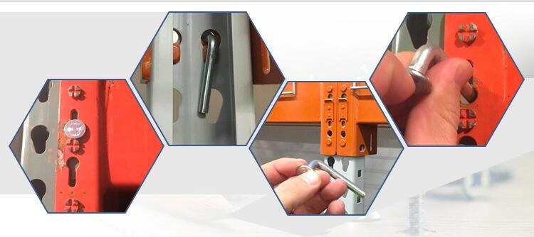 Pallet rack safety pin