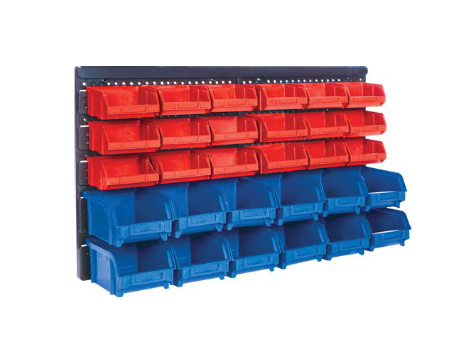 Stackable plastic parts box
