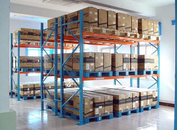 Heavy duty steel pallet rack