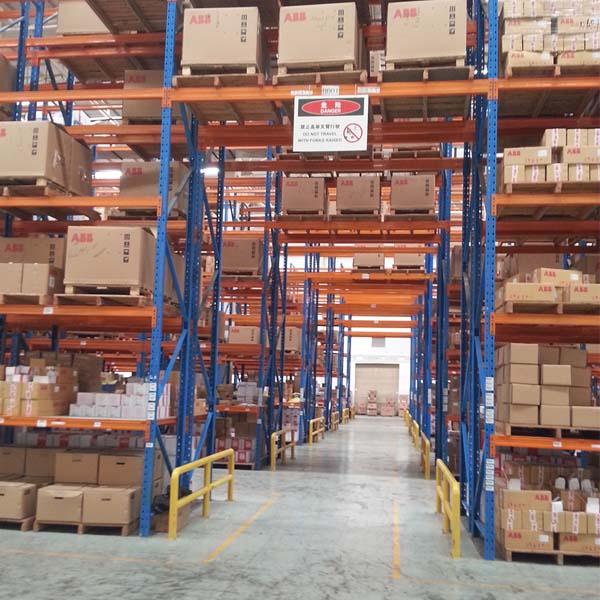 aisle warehouse shelving