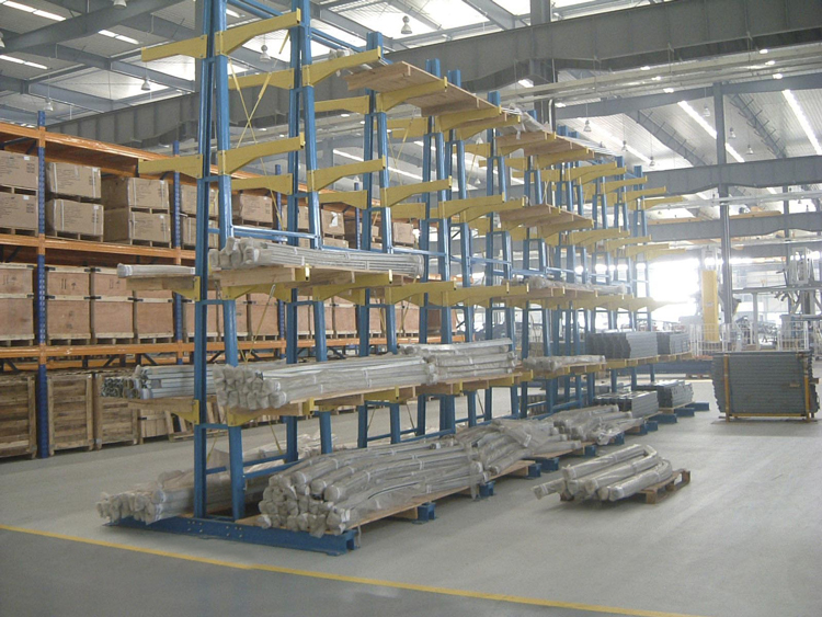 Material and function of cantilever racking