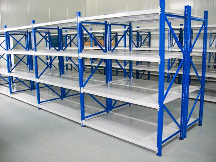 Use of storage shelves in office buildings