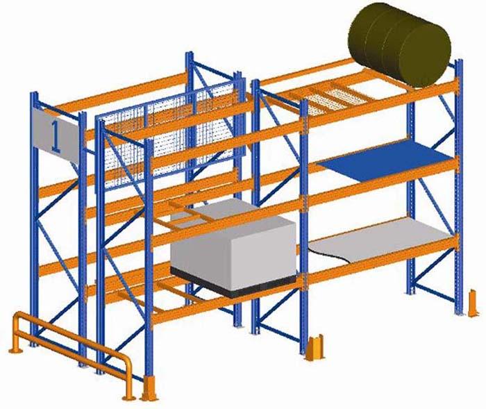 Pallet racking diagram