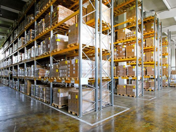 Heavy duty beam pallet rack for 100% free picking of goods