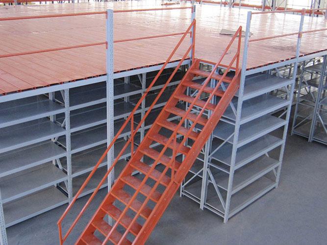 Heavy duty mezzanine warehouse with 3 times storage space