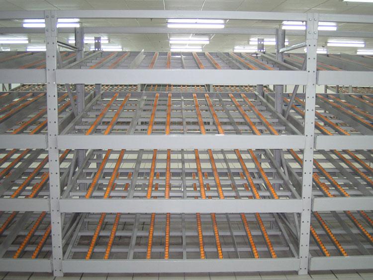 The operation process of carton flow racking