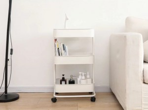 Home Furniture Metal Mesh Storage Trolley Cart