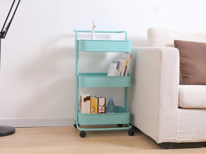 Home Furniture Metal Mesh Storage Trolley Cart Featured Image