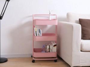 Home Furniture Metal Mesh Storage Trolley Cart
