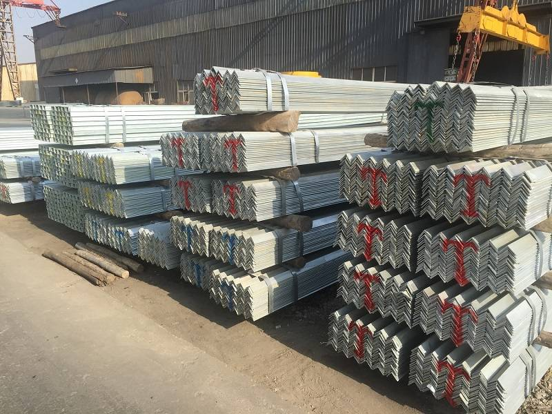 Production process of galvanized angle steel shelves