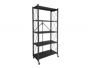 Movable Folding Shelf Storage Rack with Wheel