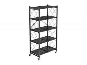 Movable Folding Shelf Storage Rack with Wheel