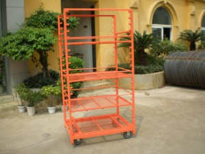 Display Danish Flower Trolley Cart for Greenhouse