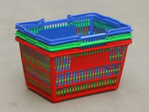 Durable Plastic Shopping Basket