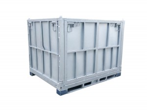 Galvanized Steel Foldable Stackable Bulk Cages