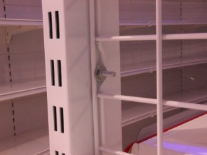 Display Metal Supermarket Gondola Shelving