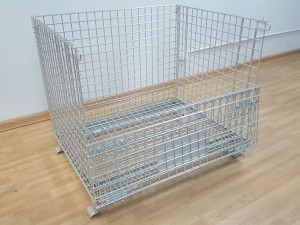 Collapsible Wire Mesh Containers for Bulk Storage
