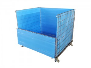 Folding Wire Mesh Pallet Storage Container